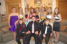 The entire group before 8th grade formal