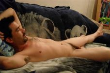 Bating Buds: Relaxing nude on the couch