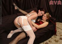 the strap on queen she lubes up and fucks lilla to orgasm while she s