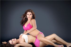 famous indian super model yasmeen khan and nathasha sikka poses for