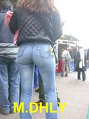 Divine Butts  Voyeur Blog: Perfect ass in tight jeans candid