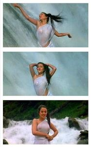 Hollywood and Bollywood Photos: Mandakini Without Bra in Ram Teri