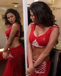 Veena Malik Burning Red Hot Backless Photoshoot Riyaz Ganji Store