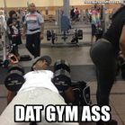 Dat Gym Ass Funny Black Guy Staring At Girls Ass While Working Out
