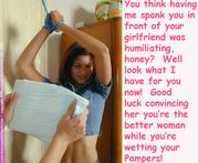abdl sissy diaper captions: Lesbian Diaper Cuckold Captions