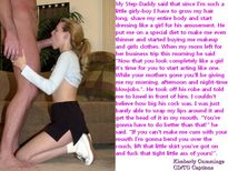 Kimberly Cummings Crossdressing Blowjob Captions: Step Daddys Gurl