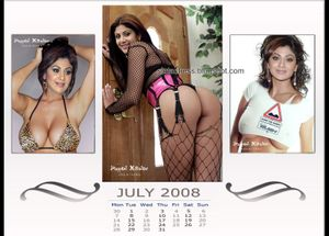 Slut Actress: Shilpa Shetty Nude for calendar