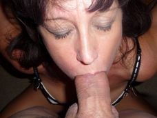 horny granny giving a deepthroat