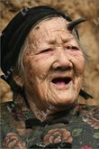Zhang Ruifang, a 100year old woman, from China's Henan Province