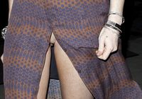 Lindsay Lohan  Upskirt Pussy Show Candids in Malibu | Chilly Babes