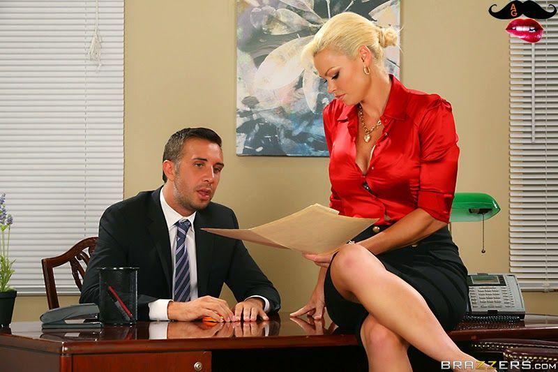 Rhylee Richards Keiran Lee Dreamy Office Tits