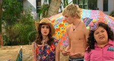 ross lynch shirtless barefoot in austin ally
