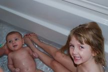 The Shipley Family: Bath time!