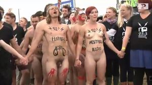 Straight guys exposed on the net@: hot guys at nude festival run