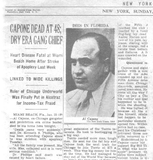 Grave Interest: Al Capone – Chicago Gangster