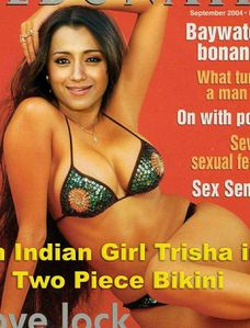 Indian Celebrity Treat: Trisha posing in Bikini - Rare or Fake?