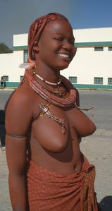 "WORLD !!!!: a 17 year old ""HIMBA"" girl in the town of Outjo, Namibia"