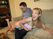 Pixie spanked by her daddy,HARD!