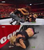 wwe diva michelle mccool shows how much she likes to wrestle in a