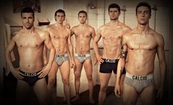 topic of shirtless and seminaked men and footballers in advertising