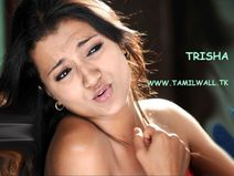 Trisha Deep cleavage wallpaper in white dress  First time trisha show