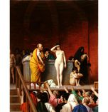 "(""TaiWikiWidbee""): ""Slave Auction,"" by JeanLeon Gerome (1880s"