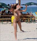 Real Down Blouse, Nipple Slip and Boobs Out: Nude beach volleyball