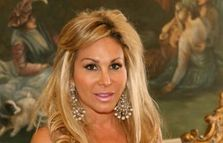 Adrienne Maloof, one of the Real Housewives, and her frosty pink lips!