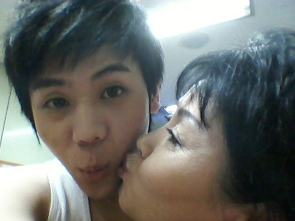 Mother Son Kiss