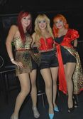 photos trio macan sexy dress red color