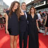 Rowan Atkinson Posed With Daughter Lily And Wife Sunetra At The