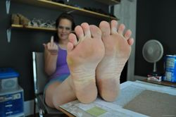 Hot Stuff � ilovestinkyfeet: Fuck you! smell my feet!