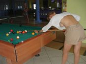 Upblouse view during pool shot �