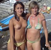 clintswoodie:Mom and topless daughter