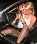 Paris Hilton nopanties upskirt