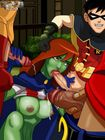 Martian , Robin , Kid Flash and Aqualad … Young Justice DC comics