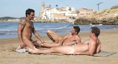 Gay Hot Stuff: bestofbromance: nude bros at a spanish beach…
