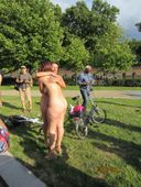 English mom+daughter at world naked bike ride 2 | MyXXXTravel