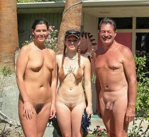 nudist mom-daughter-dad | MyXXXTravel