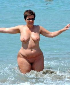 Lovely curvy busty mature nudist at the beach ! | Nudist Life Style