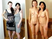 mom daughter clothed and nude