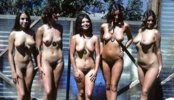 flashingfemales:Classic Nudist Pageant with 5 wonderful ladies showing
