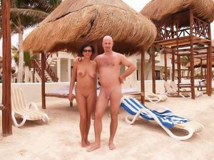 Smooth nudist couple at the beach ! | Nudist Life Style