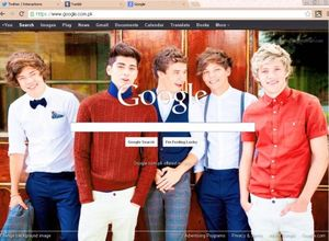 Google #1D #One Direction #Little Things #Google Homepage