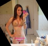 delicious teen mirror self shot