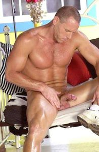 sperminherman: Nude muscular guy about to take - Dad And Son