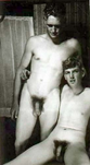 sexwithmydad:Vintage: Real father and son photographed nude together