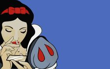 snow white # cocaine # disney # bitches # princesses