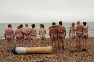 No Butts on the Beach!Surfers Against Sewage team up with a nudist