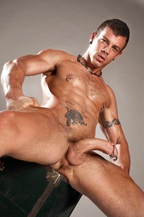 Muscle Man Pierced Nipple